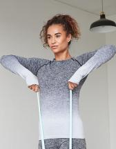 Ladies Seamless Fade Out Long Sleeved Top
