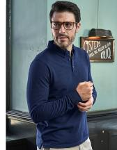 Fashion Long Sleeve Luxury Stretch Polo