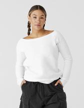 Women's Sponge Fleece Wide Neck Sweatshirt