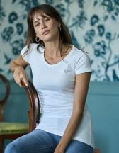 Ladies` Fashion Stretch Tee Extra Lenght